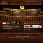Recreation of the Bellagio home page