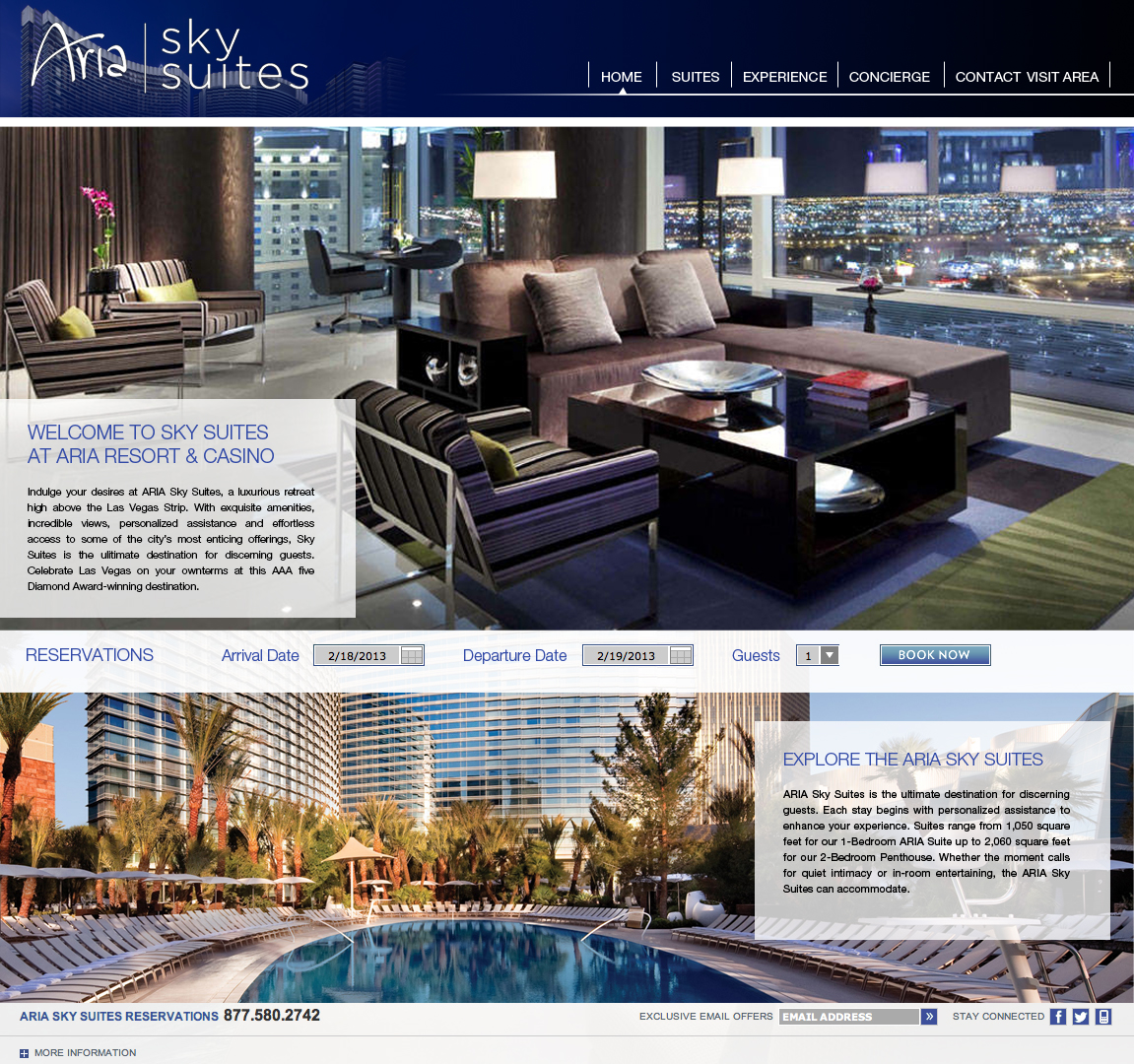 aria site layout