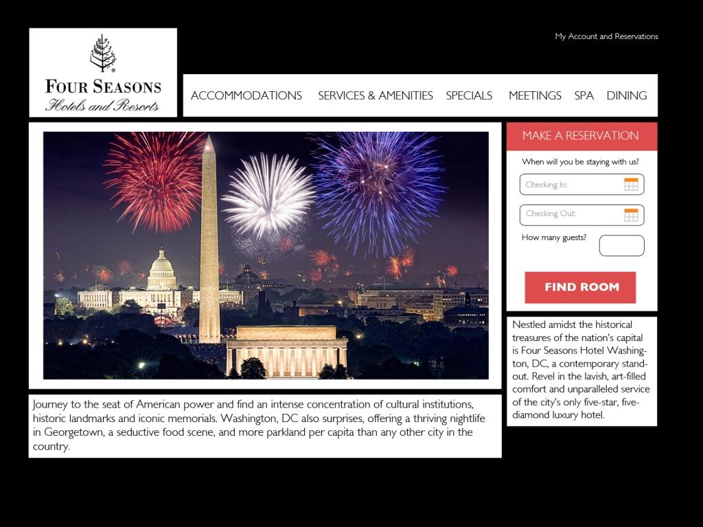 4 Seasons Website Redesign